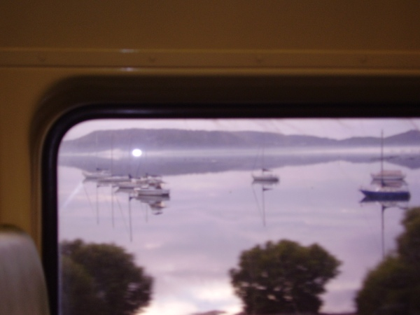 bay view from the train on the way to Start